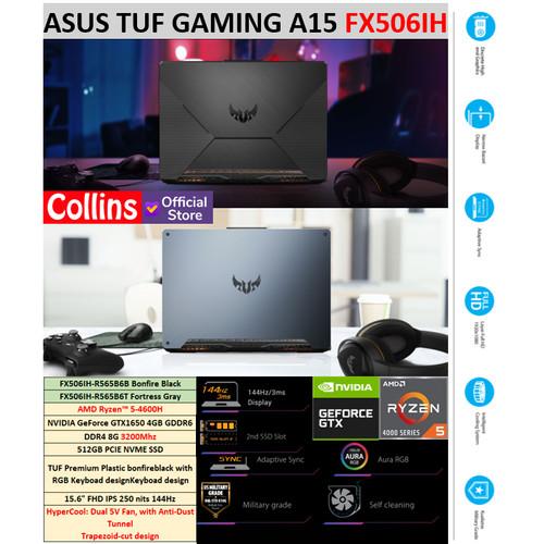 Foto Produk ASUS TUF Gaming A15 FX506IH R5-4600H 8GB 512GB GTX1650 IPS 144Hz W10 dari Collins Official