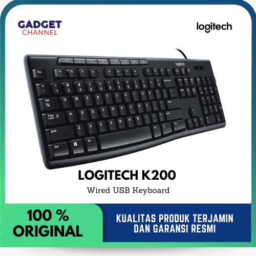 Foto Produk Logitech K200 - Keyboard USB Wired - Original - Garansi Resmi 3 Tahun dari Gadget Channel