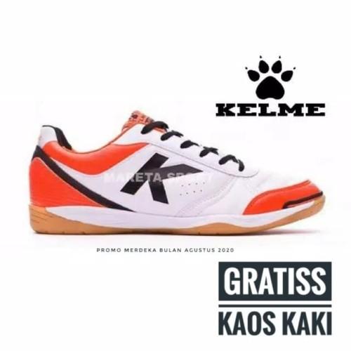 Foto Produk Sepatu Futsal Kelme K - Strong White Orange dari mareta.corp