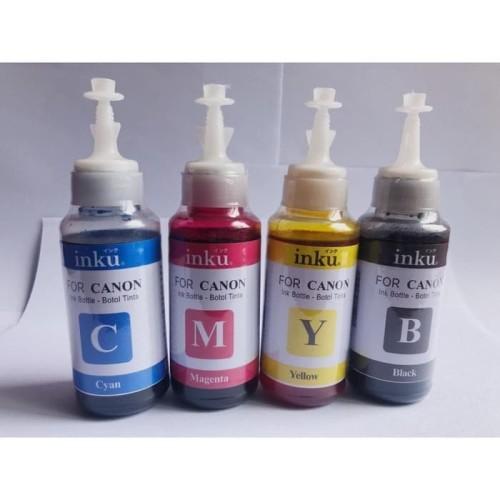 Foto Produk Tinta isi ulang Canon ( Dye ink 80 ml ) 1 set 4 botol dari Inku tintaku