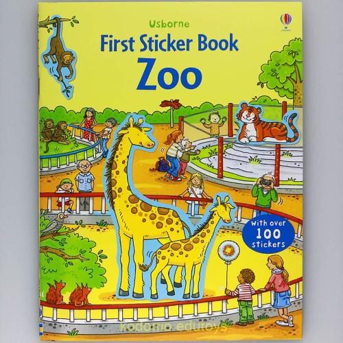 Foto Produk Usborne First Sticker Book - Zoo, Buku Aktifitas Anak Import dari Kodomo Edutoys