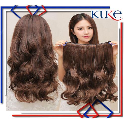 Foto Produk Hair Clip Big Layer Curly /Hairclip Keriting KODE 8061 - Curly, Cokelat dari KUKE