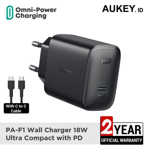 Foto Produk Aukey Charger PA-F1 18W Ultra Compact with PD - 500479 dari AUKEY