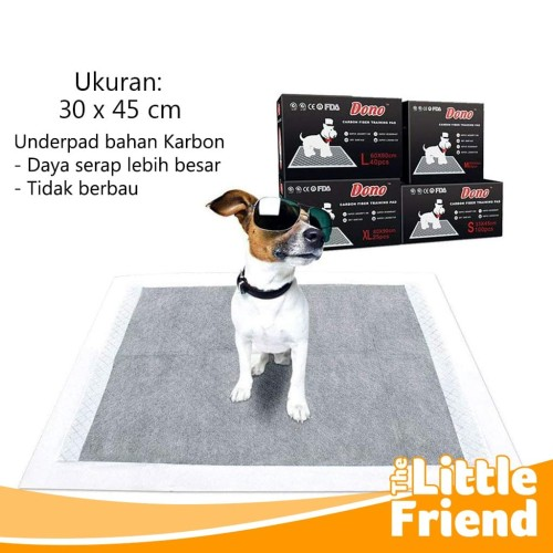 Foto Produk Alas Pipis Pee Poop Perlak Underpad Karbon Pet Toilet Anjing Kucing - 30 x 45 dari The Little Friend