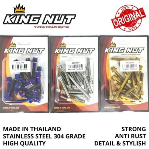 Foto Produk Set Baut CVT Beat Scoopy Vario Fi Probolt Stainless King Nut Thailand - Gold dari speed60