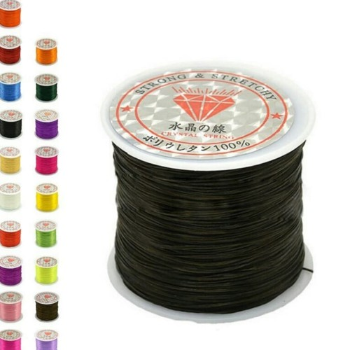 Foto Produk Tali benang gelang karet elastis untuk gelang - Hitam dari Mahsita Grosir Gemstone