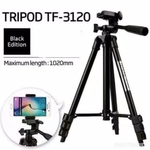 Foto Produk Tripod TF-3120 Black Edition - Tripod Kamera 3120 Free Holder U dari PINZY Official Store