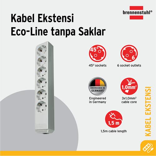 Foto Produk Brennenstuhl Eco-Line Stop Kontak 6-soket Abu-Abu 1.5m - 9123020020 dari Brennenstuhl Indonesia