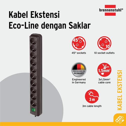 Foto Produk Brennenstuhl Eco-Line Stop Kontak dengan Switch 10-Soket Hitam 3m dari Brennenstuhl Indonesia