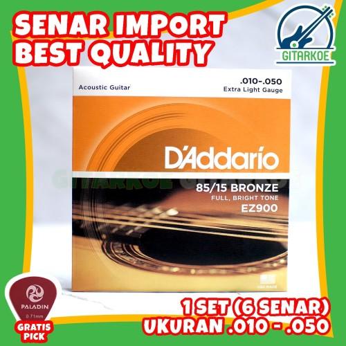 Foto Produk Senar Gitar DAddario String Akustik .010-0.50 85/15 BRONZE EZ900 dari gitarkoe