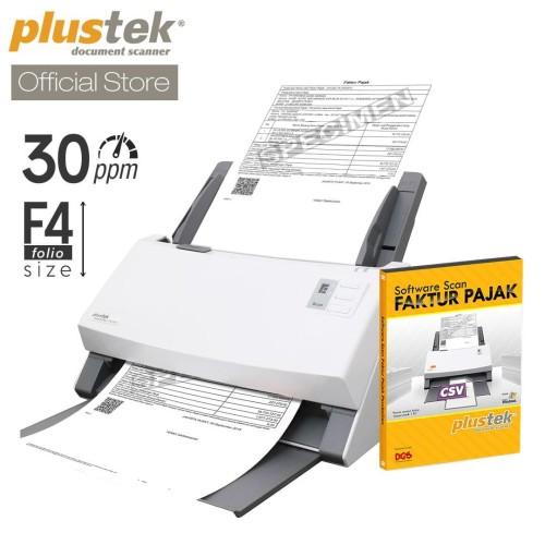 Foto Produk Scanner Plustek Faktur Pajak PS396 Plus - 30 Lembar/menit (F4/Folio) dari Plustek Indonesia