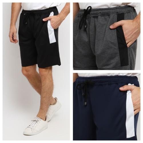 Foto Produk CPH celana pendek baby terry half stripe - Hitam, XL dari kayser official