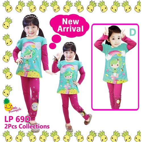 Foto Produk Baju Tidur Anak Perempuan Little Pineapple LP 69D - 4 dari Laisha Kids Shop