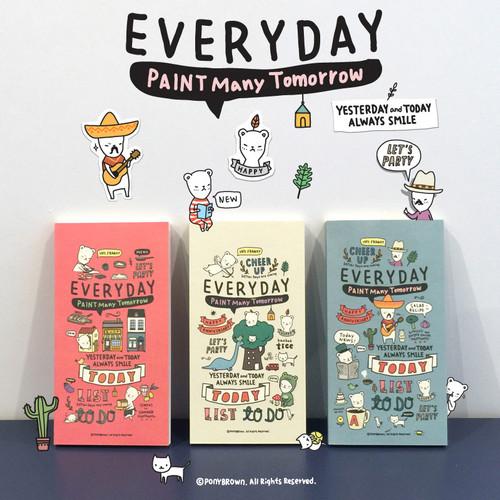 Foto Produk Paint Many Tomorrow Everyday Diary / Buku Catatan / Buku Harian - Pale Yellow dari Pinkabulous