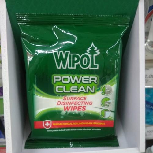 Foto Produk Wipol Power Clean Surface Disinfecting Wipes 10's dari cubeecubee