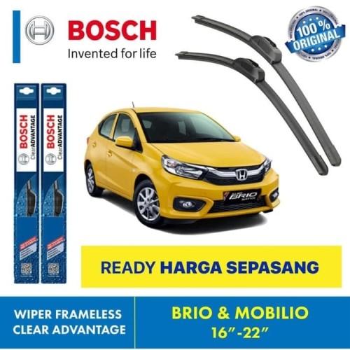 "Foto Produk Wiper Blade Mobilio Brio BOSCH frameless ADVANTAGE 16-22"" ORIGINAL dari Indo Utama Otoparts"