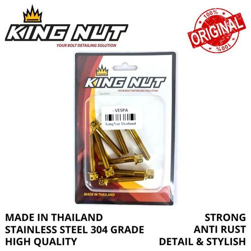 Foto Produk Set Baut CVT All Modern Vespa Probolt Stainless King Nut Thailand - Gold dari speed60