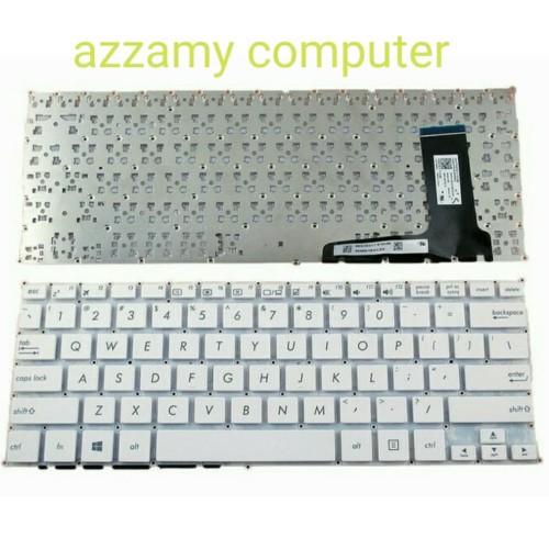 Foto Produk KEYBOARD ASUS E202 E202S E202SA E202M E202MA TP201SA series WHITE dari azzamy computer
