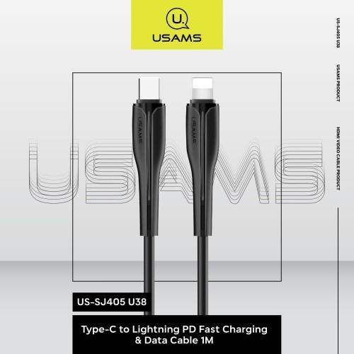 Foto Produk USAMS Type-C to Lightning Fast Charging & Data Cable 1M US-SJ405 U38 dari MENU Official Store