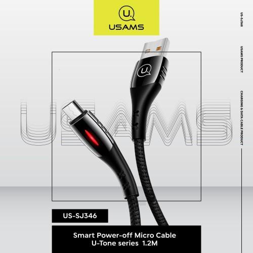 Foto Produk USAMS Micro Cable USB 1.2M US-SJ346 Smart Power-off U-Tone series dari MENU Official Store