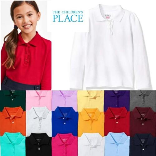 Foto Produk Kaos Kerah Polo Anak Perempuan Place Ruffle Tangan Panjang - Navy dari papabearz