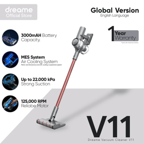 Foto Produk Dreame V11 Handheld Vacuum 25000Pa cordless Penyedot Debu dari Dreame Official Store ID