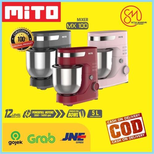 Foto Produk MITO STAND MIXER MX 100 5 Liter 350 Watt MX100 1 Tahun Garansi Resmi - Merah Muda, TANPA BUBBLE dari Setia Mandiri Elektronik