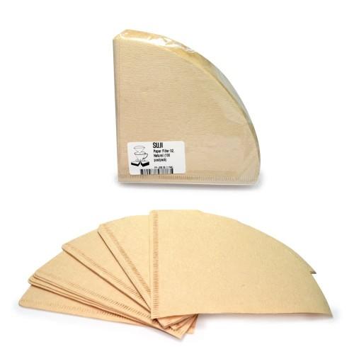 Foto Produk SUJI Paper Filter 02, Natural (100 pcs/pack) dari Suji Premium