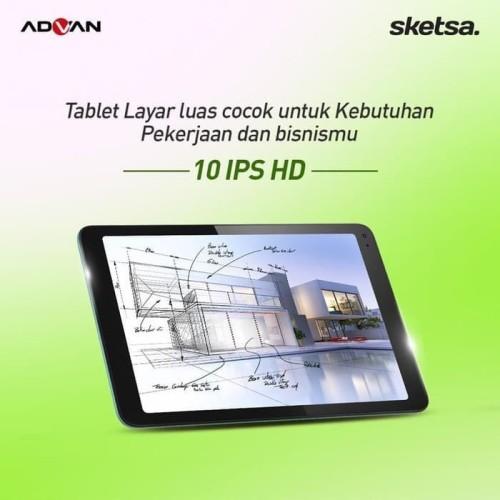 Foto Produk Advan Tab Sketsa 10 Inch 4GB/32GB Garansi Resmi - Tablet Only dari Pengoeasa