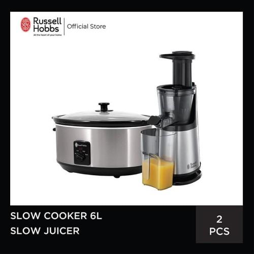 Foto Produk Bundling Russell Hobbs Slow Juicer - Russell Hobbs Slow Cooker 6L dari Russell Hobbs Indonesia