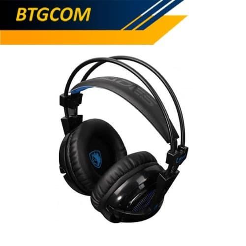 Foto Produk Sades Locust Plus RGB 7.1 Gaming Headset / Locus dari BTGCOM