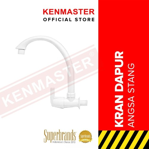 Foto Produk Kenmaster Keran Angsa Tembok Plastik (ABS) Cangklong VMM dari Kenmaster Official