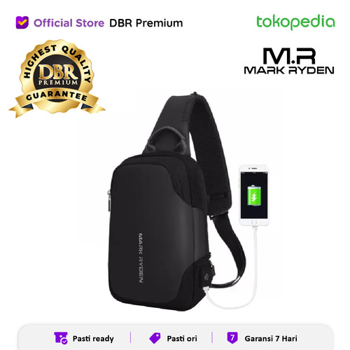 Foto Produk Mark Ryden 7056 original 100% tas anti maling tas selempang - Hitam dari DBR Premium