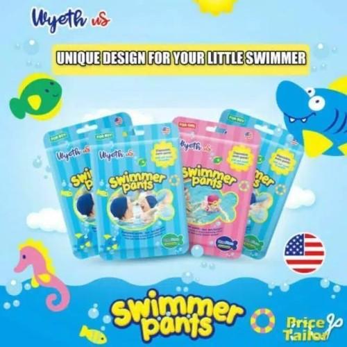 Foto Produk Popok Renang Bayi   Swim Diapers   Diaper Renang WYETH USA - Girl, M 6-11 kg dari KIDDIE SPLASH INDONESIA