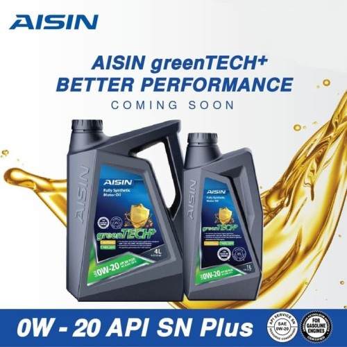 Foto Produk Oli Aisin 0W 20 API SN+/ CF Fully Synthetic isi 1 ltr ASLI dari Indo Utama Otoparts