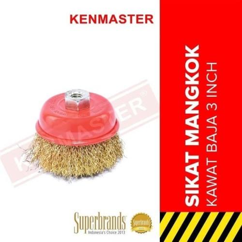 Foto Produk Sikat Kawat Mangkok Baja 3 INCH XANDER SIKAT MANGKOK dari Gold-Mart