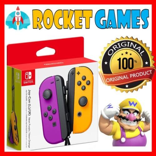 Foto Produk Nintendo Switch Joycon Purple Neon Orange / Joy Con Purple Neon Orange dari Rocket games