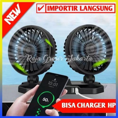 Foto Produk Kipas Angin Mobil Double Headed Fan / Kipas Angin Mobil 12Volt-100276 - 24 V dari Raja_Grosir jakarta