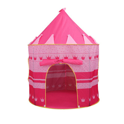Foto Produk Tenda Castle Tent Matougui AN8109 Mainan Anak Kastil Princess - Merah Muda dari first tactical