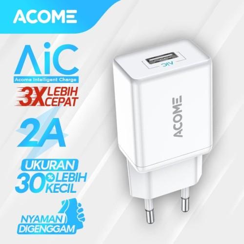 Foto Produk ACOME Charger Single Port Fast Charging 2A Garansi Resmi 12 bulan AC04 dari Acome Indonesia