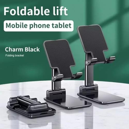 Foto Produk Foldable Lift Lipat Mobile Phone Holder Tablet Folding Desktop Stand dari majultc