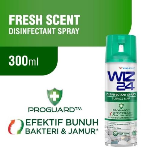 Foto Produk WIZ 24 Disinfectant Spray Aerosol - Fresh Scent 300 ml dari Wings Official Store