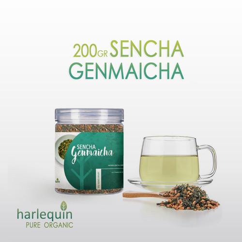 Foto Produk Genmaicha 200 Gr - Japan Roasted Rice Green Tea - Teh Genmaicha Jepang dari Harlequin Herb