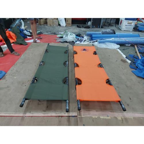 Foto Produk Tandu Besi PMI Lipat 2 - Orange dari Acek Tenda Bandung
