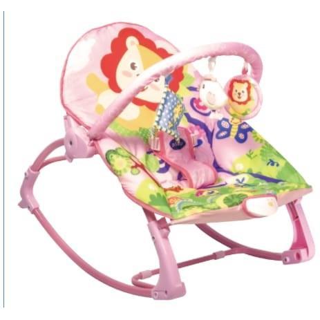 Foto Produk Bouncer Ayunan Kursi Goyang Bayi Manual Pliko PK-313 Joy Rocking Chair - Pink dari VnR Baby Collection