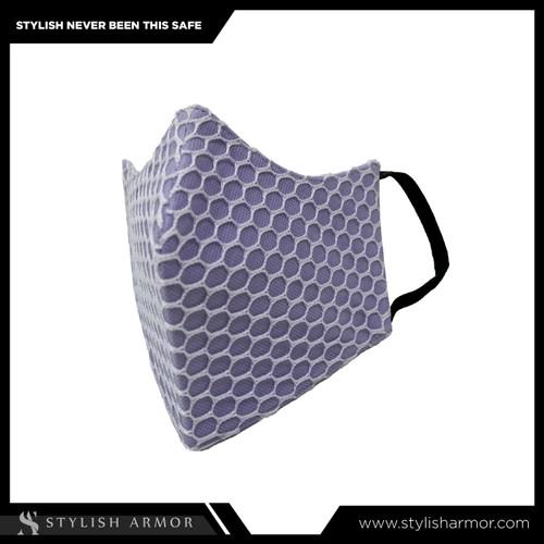 Foto Produk Masker Stylish Armor Silver Antimicrobial 3ply earlop net Purple 12pcs - M dari STYLISH ARMOR