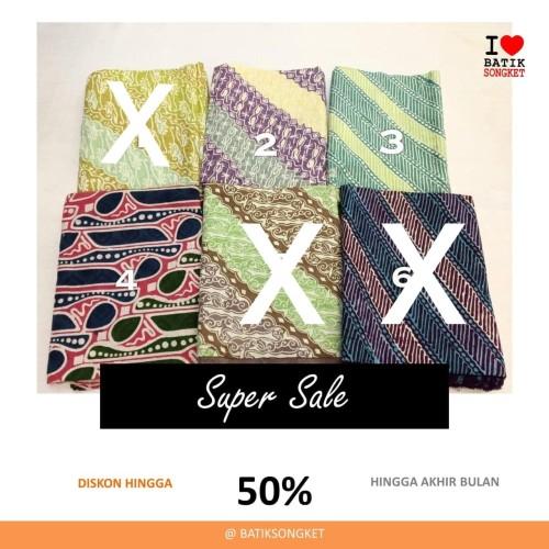 Foto Produk SALE DOBY PARANG PASTEL dobi dobby bahan kain batik lereng halus dari Batik Songket Indonesia