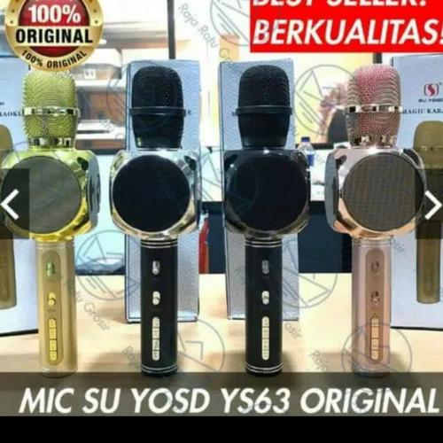Foto Produk Microphone bluetooth karaoke yosu ys63 ORIGINAL 100%/MIC KARAO dari maju jaya d