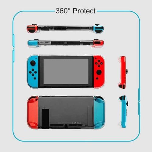 Foto Produk Nintendo Switch Gulikit Protective Case / Mika / NS17 - Crystal Clear dari Suyanto//Liberty Game