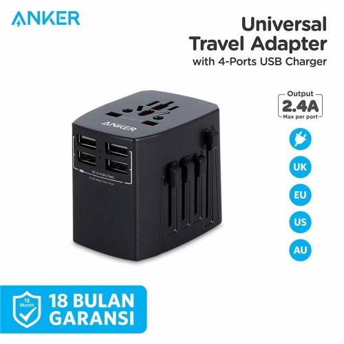 Foto Produk Wall Charger Anker Universal Travel Adaptor Black - A2730 dari Anker Indonesia